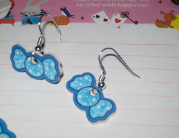 Kawaii Earring Set - Blue by Sweet-Ribbons