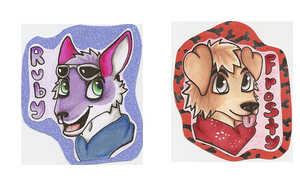 Frosty And Ruby Badges by Dresden-Complex