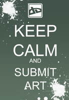 Keep Clam and Submit Art by ChesterPalm