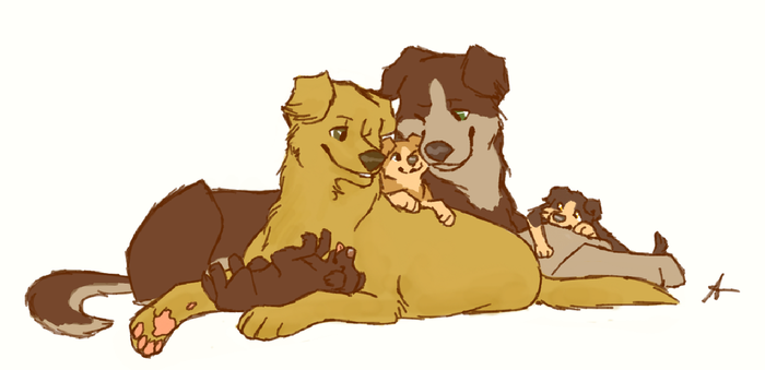 Sabriel pups by Sammaella