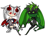 freebie chibi 14 and 15 by Some-Wench