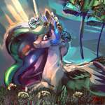 Happy Princess Celestia by Alumx