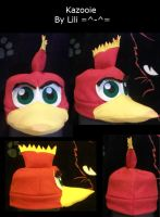 Kazooie Fleece Hat by LiliNeko
