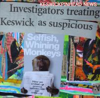 YOU ARE ALL SUSPICIOUS MONKEYS, KESWICK by KeswickPinhead