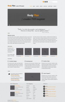 Rusty Plan PSD Template by KL-Webmedia