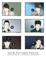 Postcard Preview Exo-M by ILICarrieDoll