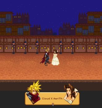 Cloud X Aerith Moonlight by gttorres