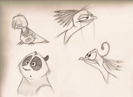 'Kung Fu Panda 2' - Sketches by Mitch-el