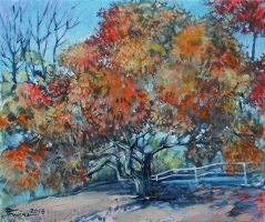 Tree oil paint by Boias