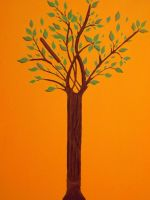 Painted Tree with Clay by Ignaixx