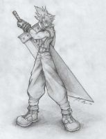 Cloud Final Fantasy 7 Fan Art by JoelAndrewMorgan