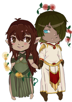 Charis and Kalen (Chibi) by DesiresTM