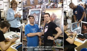 Signing at ONE STOP COMICS by KlausScherwinski