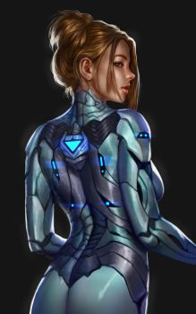 Cyborg girl by denn18art
