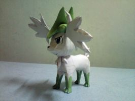 Shaymin Sky Forme Papercraft 4 by riolushinx