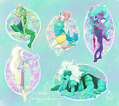 Steven Universe Stickers 3 by thehappygirl