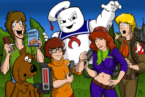 Ghostbuster Scooby by TR1Byron
