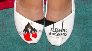 Sleeping With Sirens - With Ears To See Shoes by iluvtssatl