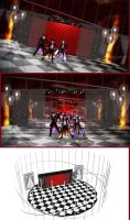 Red Checker Stage By Ginn by roosjuh14290