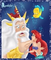 Ariel and the king of the sea by Laurine-Tellier