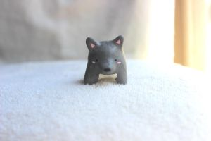 Spirit Friend Grey Wolf Animal Figure by PinkChocolate14