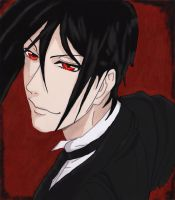 Sebastian Michaelis coloured by IllyDragonfly