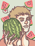 Watermelon fetish - Jeremy by Social-Cannibal