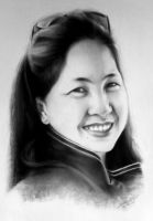 Tita Rose Charcoal Portrait by ffdiaries958