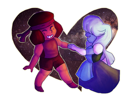 Ruby and Sapphire by catpup
