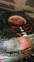 Red Planet - Spray Paint Art Photopaper by RiensArtwork
