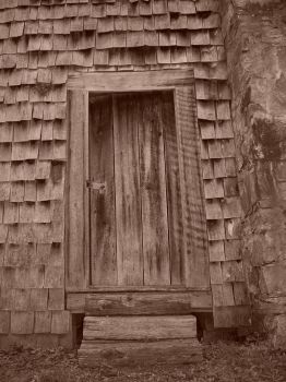 Old back door by DHuff-art