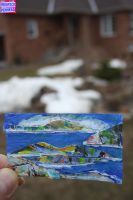 Business Card Seascape by KeswickPinhead