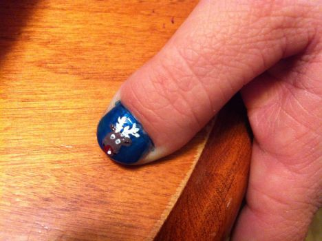 Operation Red Nose Rudy Nails by KhavenNitefall