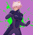 Neat half body commission: Kaiden by BrokenDoll777