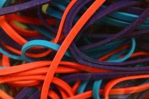A tangle of rubberbands by ExposeTheBeauty