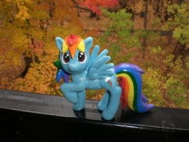 My Little Ponies FiM Rainbow Dash Sculpture by Reyndrys