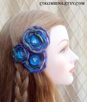 Flower hair pins amethyst by Alyssa-Ravenwood