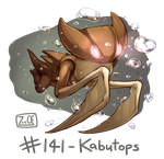 141 - Kabutops by Electrical-Socket
