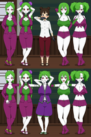 Jokerized Tenten Before and After by Firingwall