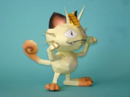 Meowth Papercraft by Skele-kitty