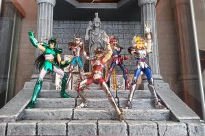 Saint Seiya - Diorama - Athena's Autel and bronzes by dru69