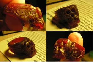 Monkey Signet Ring - Wax Model by Lord-Rhesus