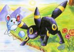 Marill and Umbreon by Xenonia