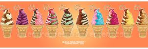 Kawaii Ice Cream Series prt 2 by KawaiiUniverseStudio