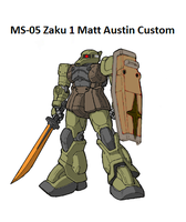 Zaku 1 Matt Austin Custom by DaiGuard78
