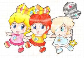 .:The Baby Princesses:. by CloTheMarioLover
