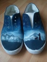 Hand painted Lirael Shoes by rats-rox