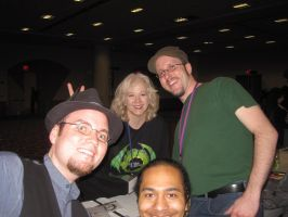 Me with The Nostalgia Critic and Crew by onionhead1