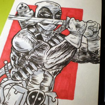 INKtober - Deadpool by Cosmic-Rocket-Man