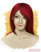 Red Hair YoonA by RyoKuXaZ